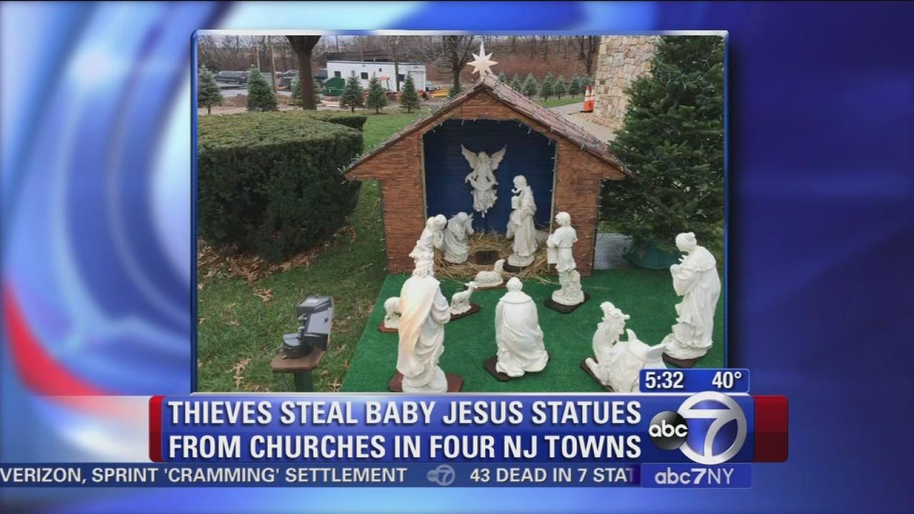 Baby Jesus figures stolen from churches