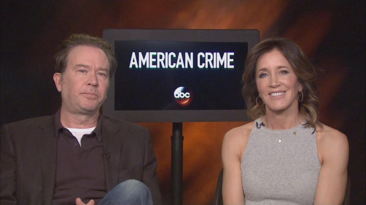 Timothy Hutton and Felicity Huffman talk about American Crime