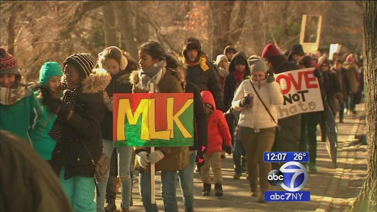 Students march in memory of Dr. Martin Luther King Jr.