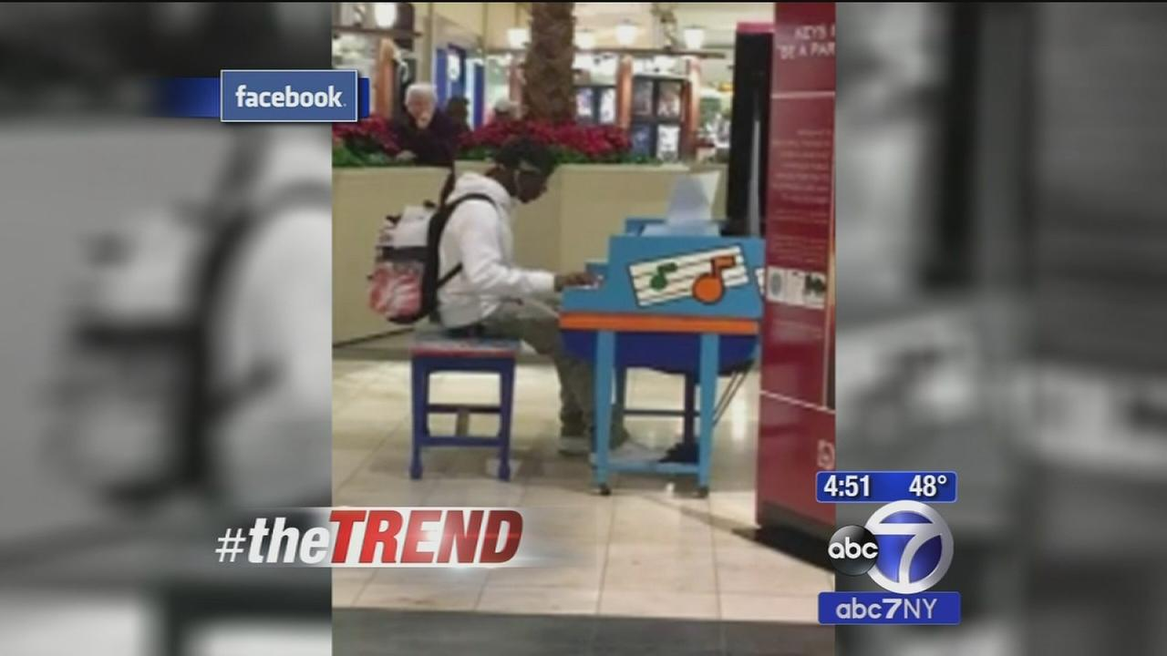 The Trend: Self-taught piano player blows mall-goers away