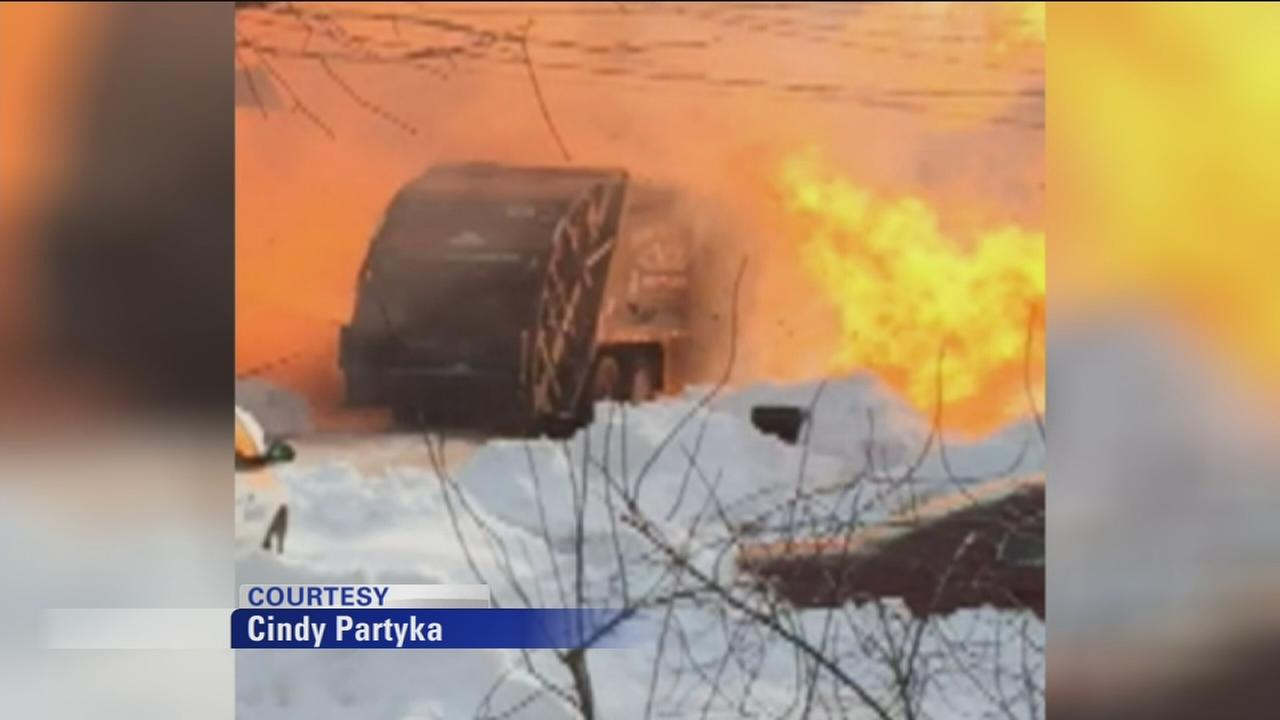 Garbage truck explodes in Hamilton