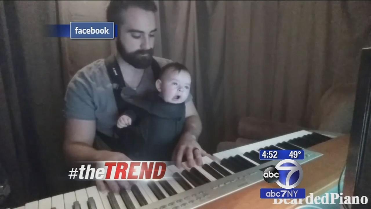 The Trend: Dads piano lullaby puts baby right to sleep