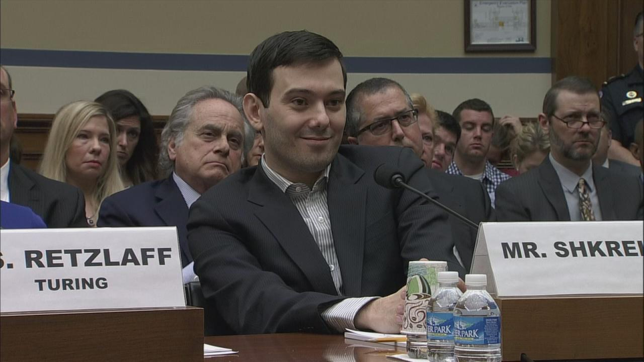 Martin Shkrelis pleads the fifth