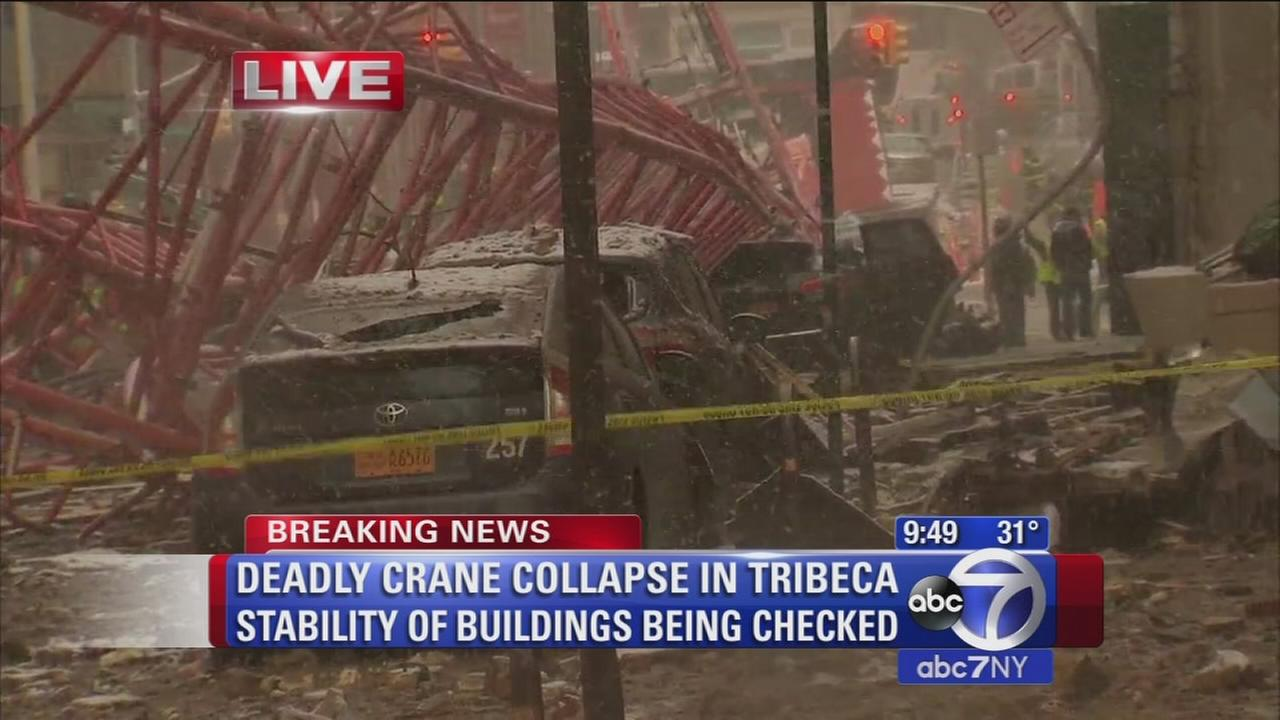 Witness describes terrifying scene as crane comes toppling down