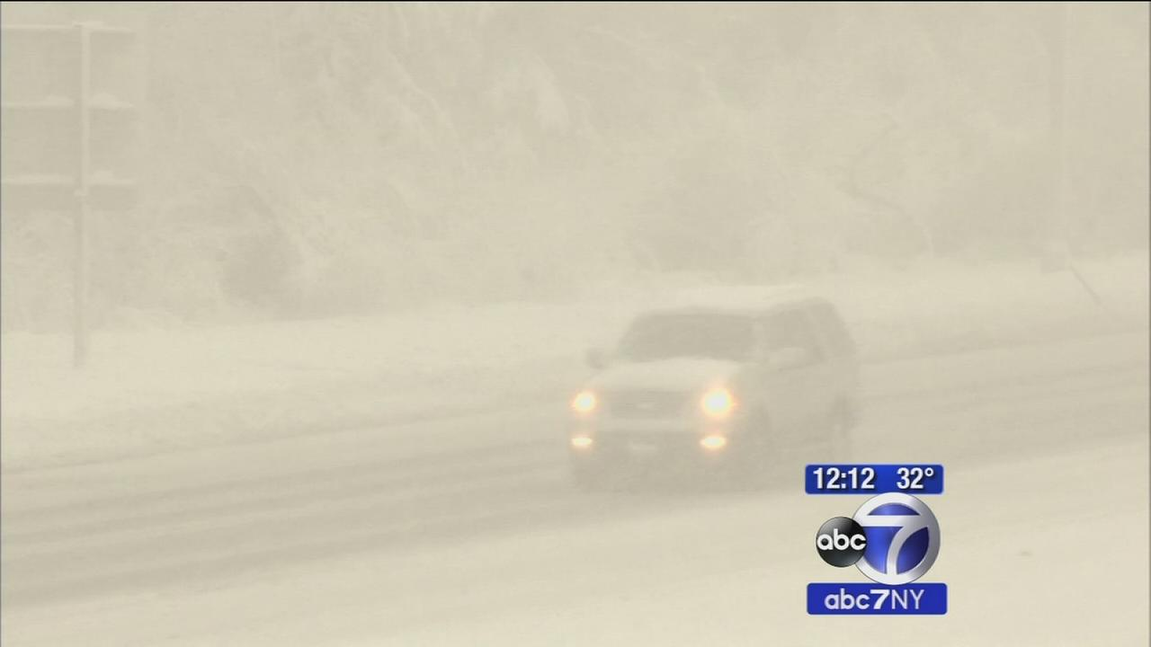 Long Island hit with heavy snow during morning commute