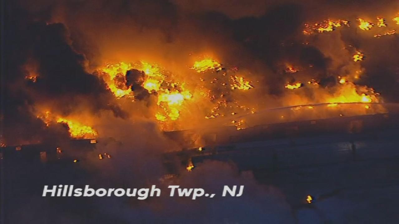 NewsCopter 7 over warehouse fire
