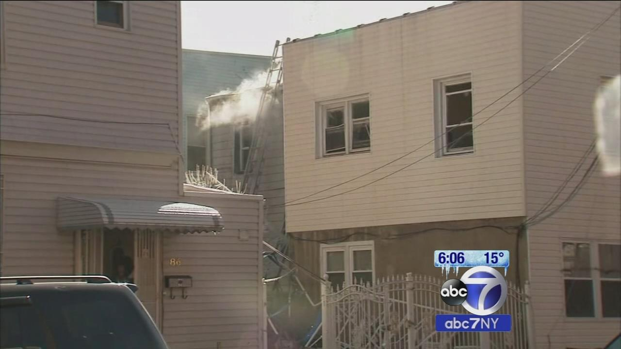 Three firefighters hurt battling fire in Jersey City