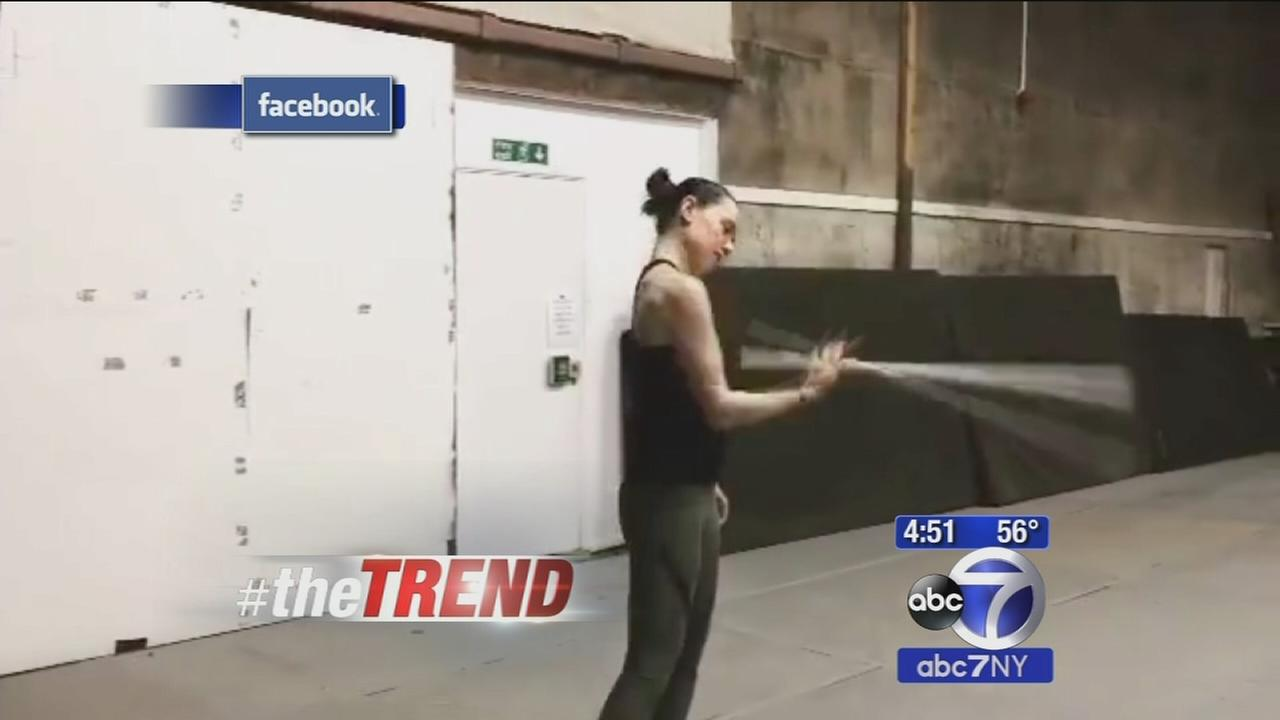 The Trend: Actress Daisy Ridley practices lightsaber skills for next Star Wars film