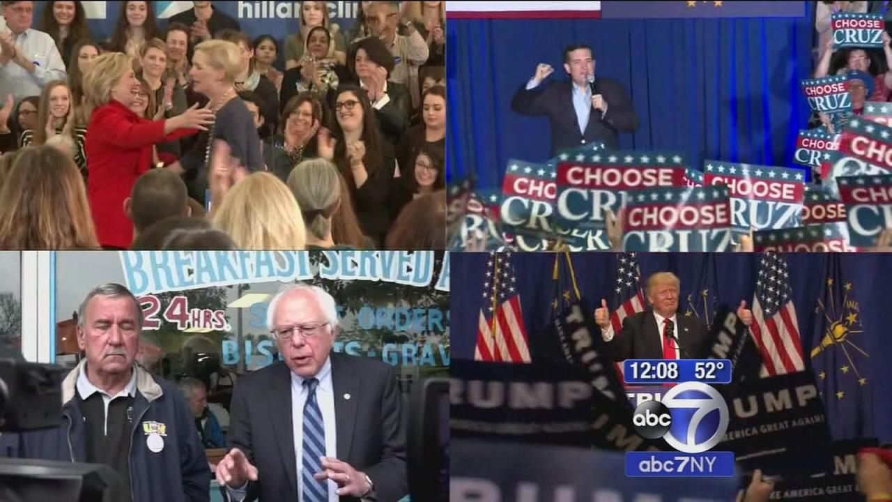 Candidates make final push in Indiana
