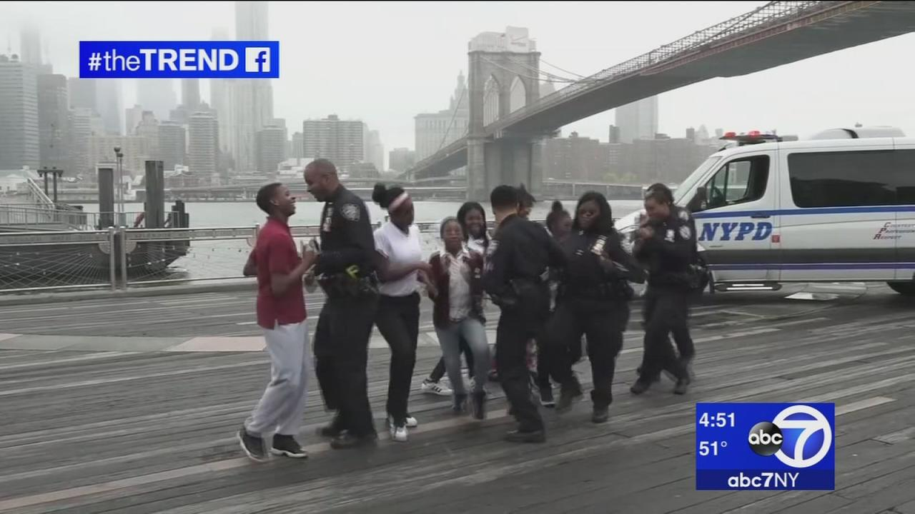 Police officers across the globe show off dance moves for Running Man Challenge