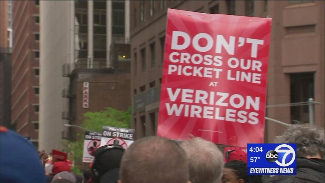 Vandalism reports on the rise as Verizon strike continues
