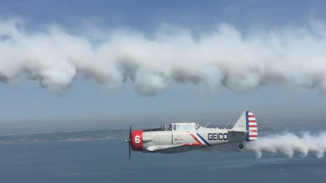 Flying with the GEICO Skytypers