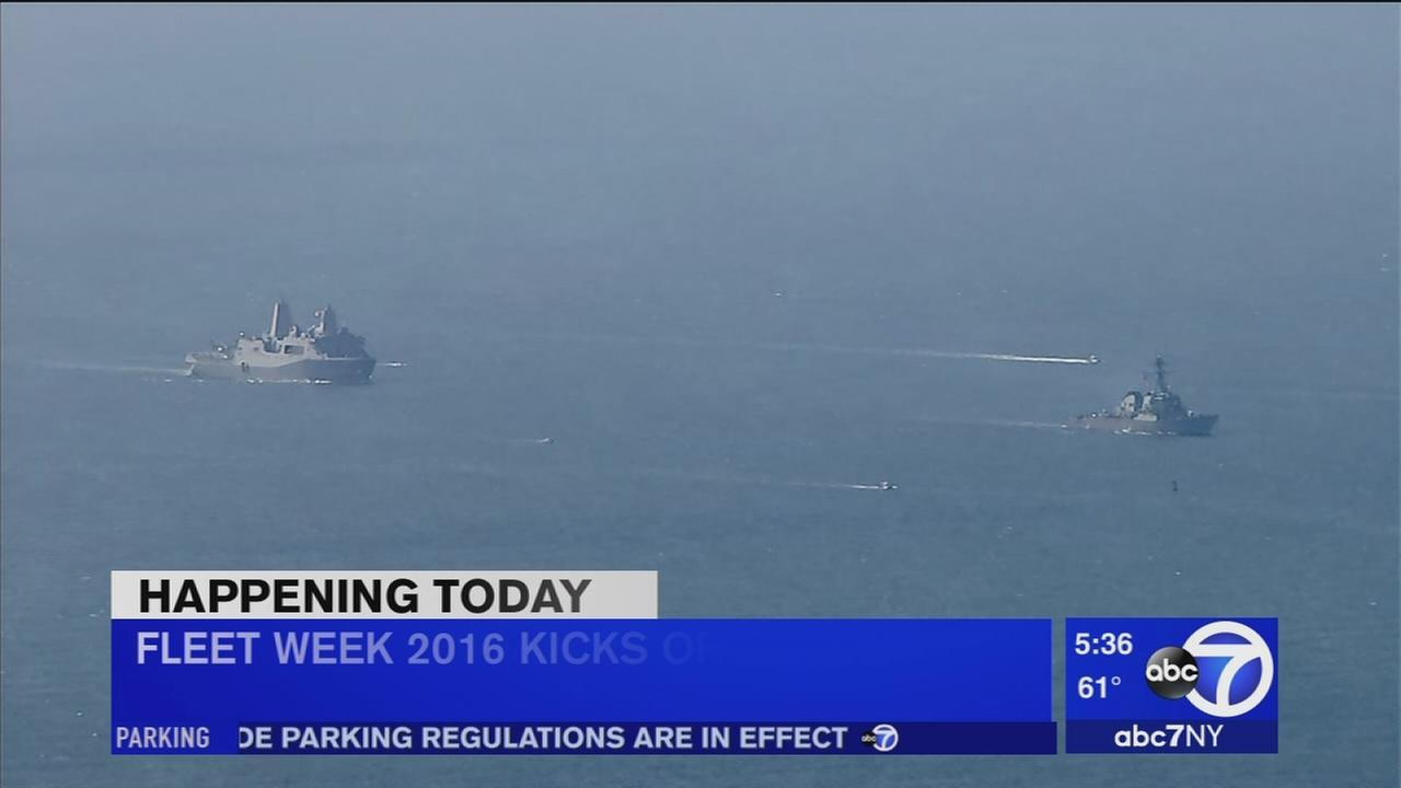 Fleet Week to being thousands, ships to New York area