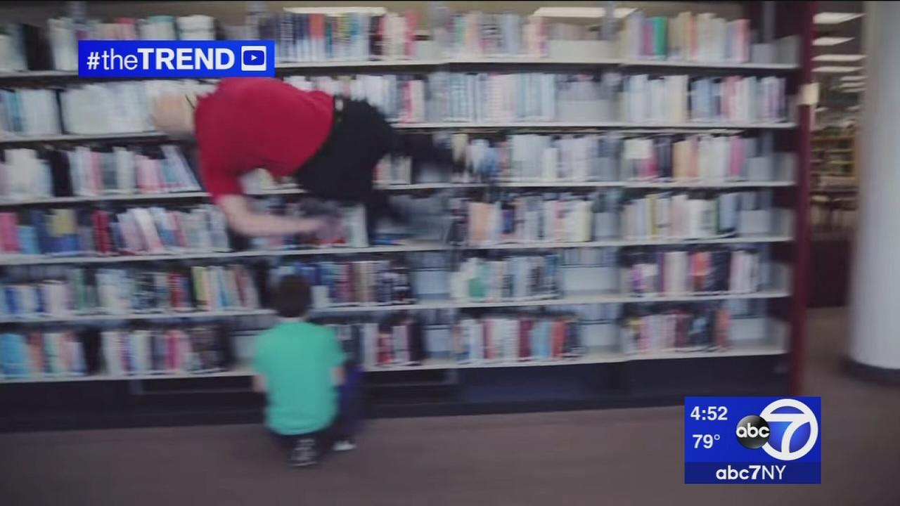 The Trend: Stuntmen pull out the tricks to promote reading
