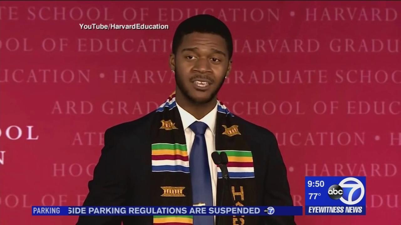 Harvard grad delivers poetic commencement speech