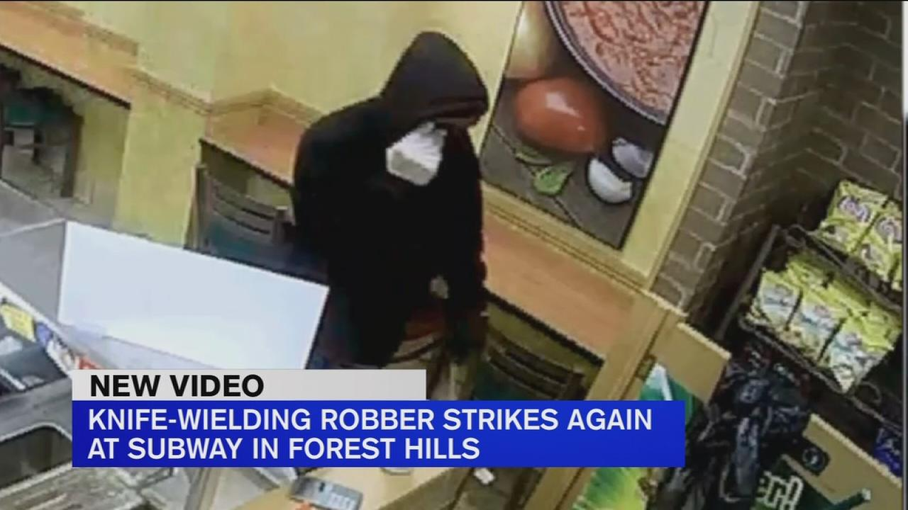 Knife-wielding robber strikes again