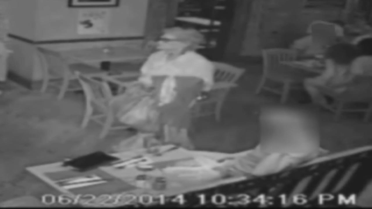 68-year-old woman caught on camera stealing purse