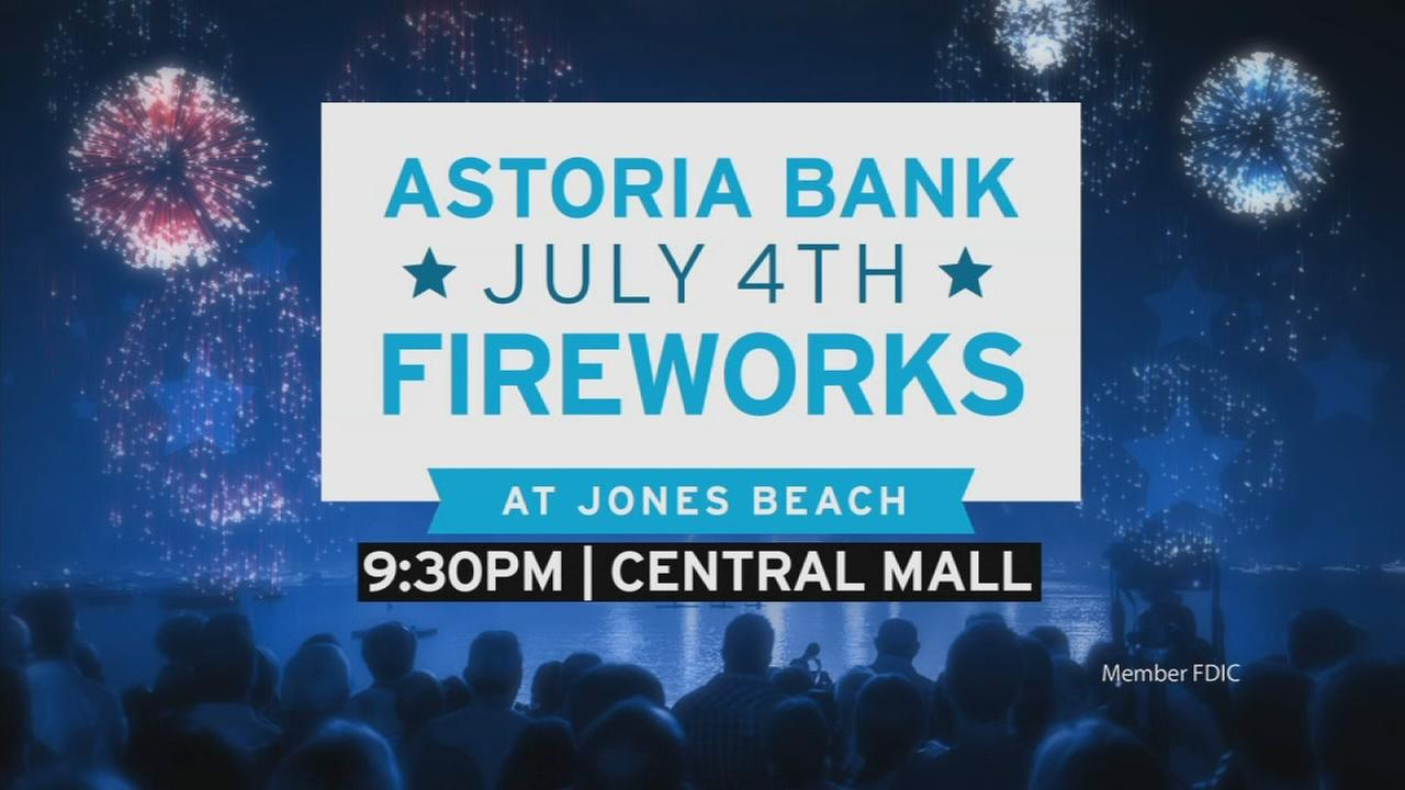 Astoria Bank Fireworks at Jones Beach