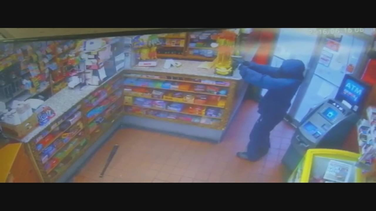 Would-be robber chased away by bat weilding employee