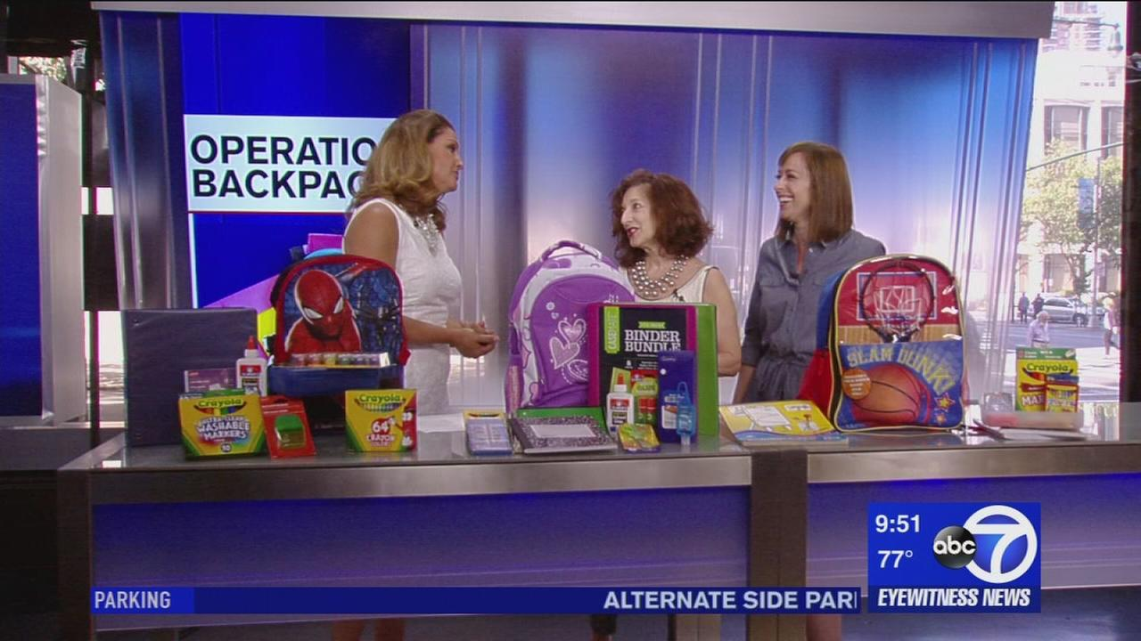 Operation Backpack helps give kids school supplies