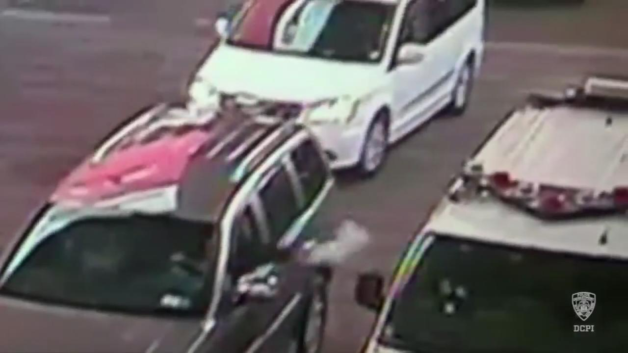 VIDEO: See suspicious package being tossed into an NYPD van