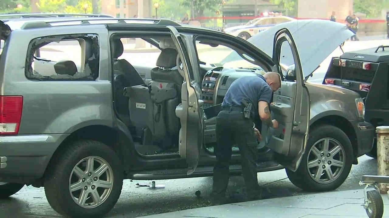 Following a multi-hour standoff, police took into custody a man who had been sitting in a parked SUV in Columbus Circle.
