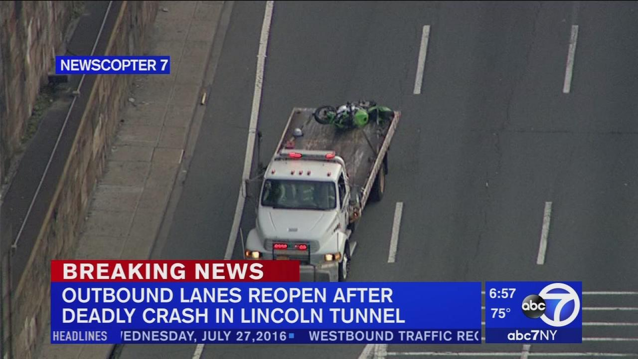 Deadly motorcycle crash in Lincoln Tunnel
