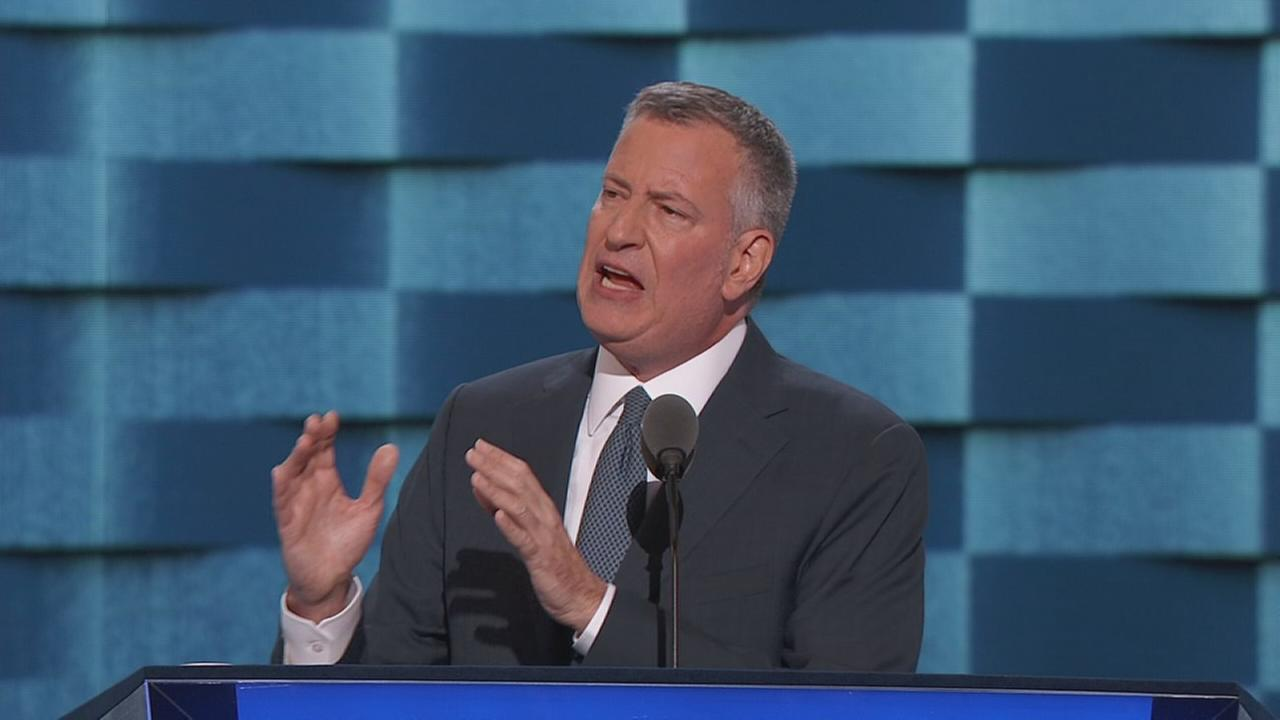 DNC: NYC Mayor Bill de Blasio speaks