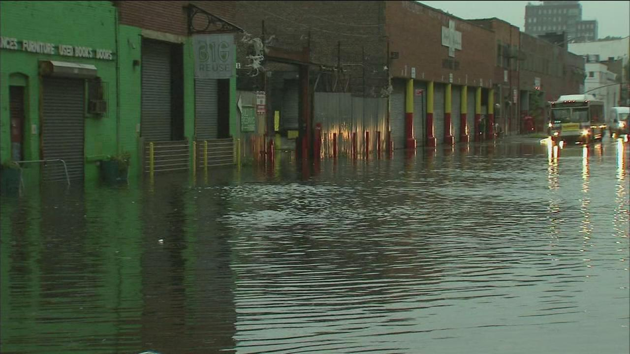 Flooding in Brooklyn area covers road