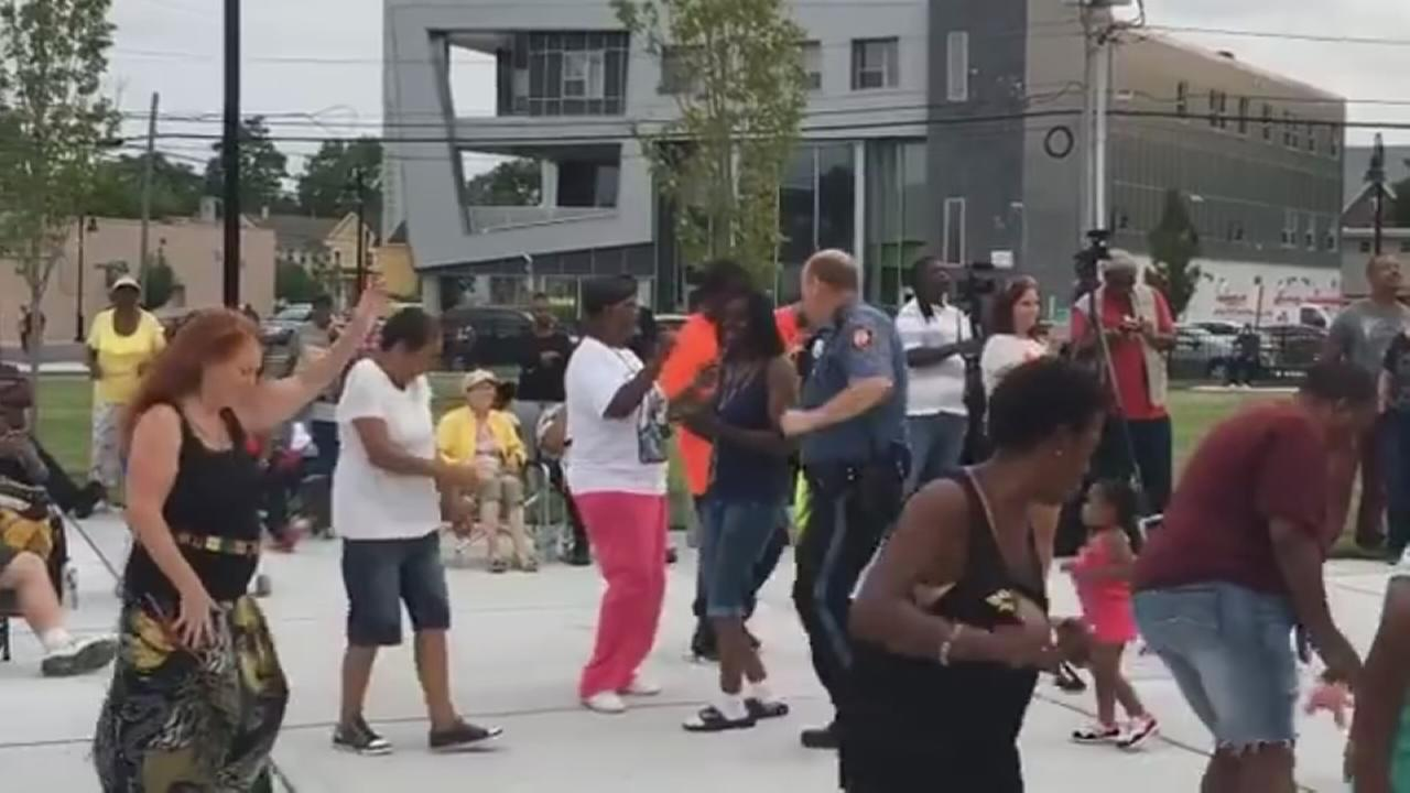 Asbury Park officer joins community dance party