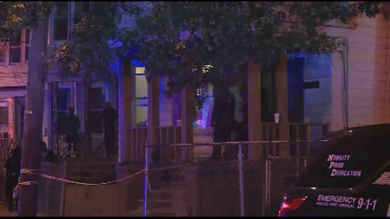 A man was killed and a pregnant woman shot in Newark overnight.