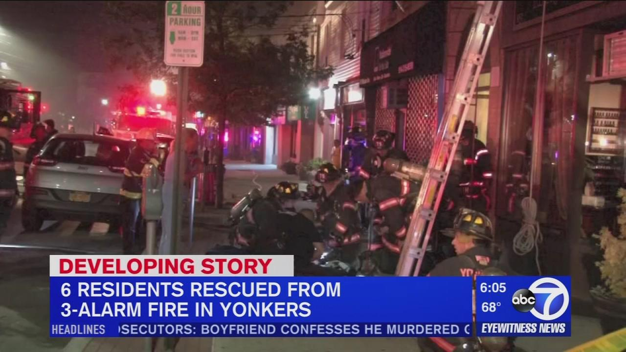 3-alarm fire breaks out at Yonkers apartment building