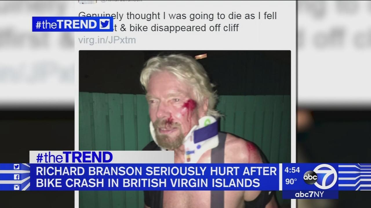 The Trend: Richard Branson hurt in bike crash