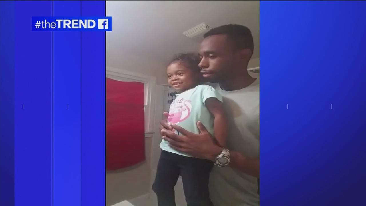 The Trend: Dads motivational routine with daughter is too cute