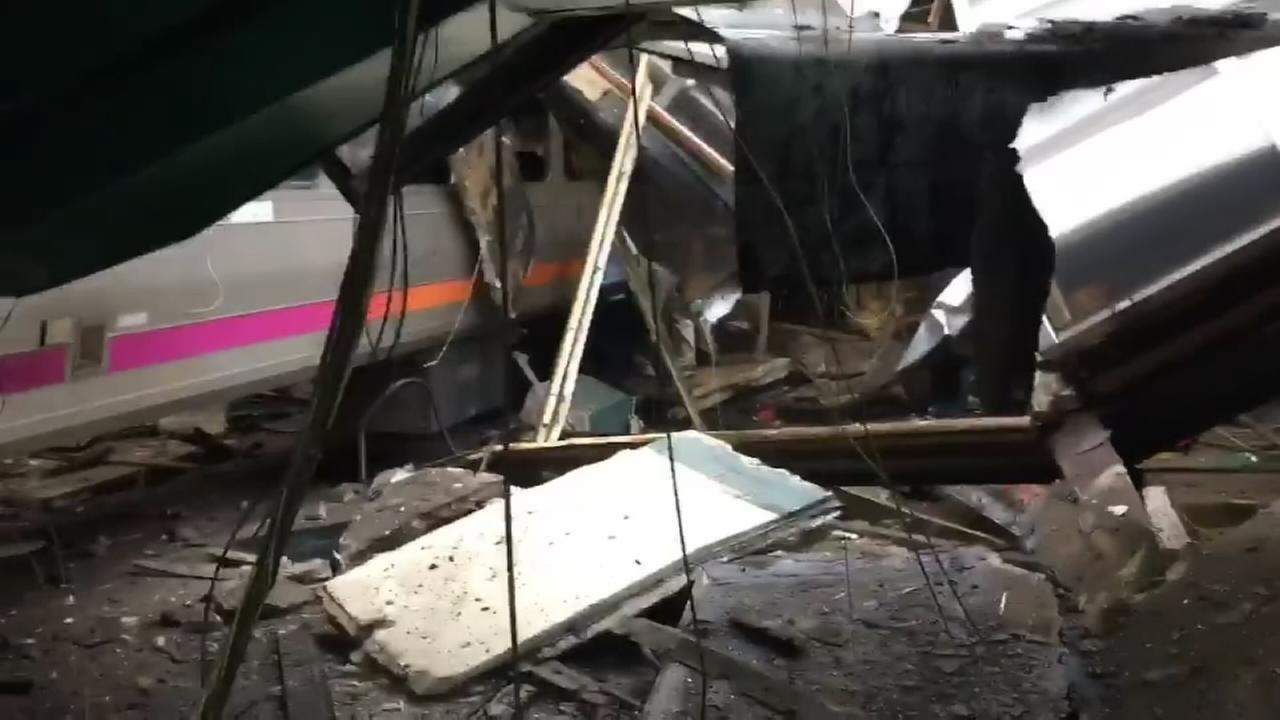 WATCH: Inside the station where the NJTransit train crashed