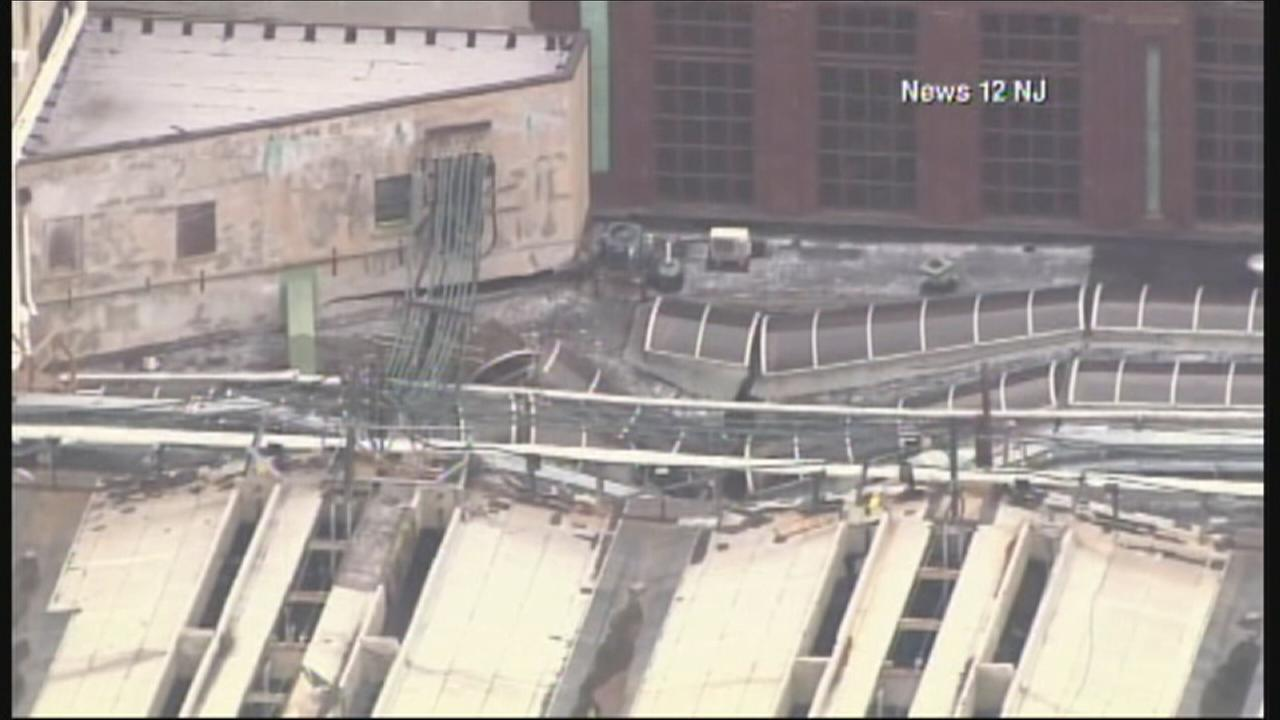 RAW: Aerial footage of Hoboken train station