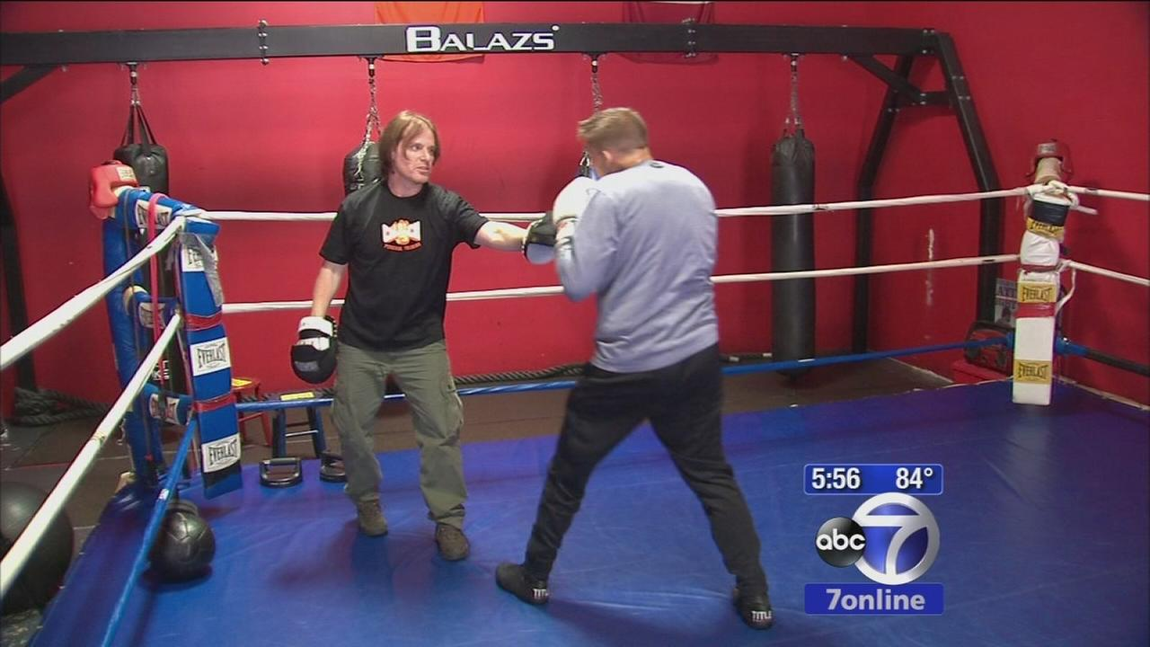 Cancer patient takes to the boxing ring