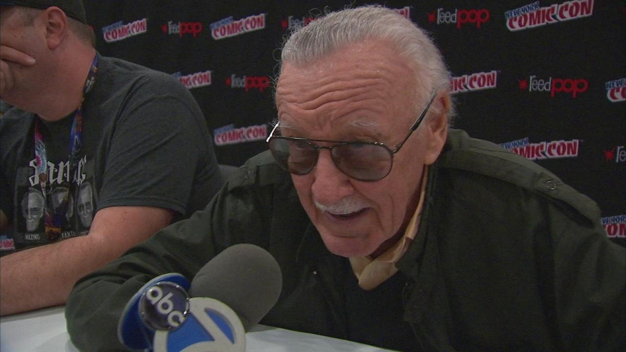 Stan Lee talks to ABC7NY at New York Comic Con