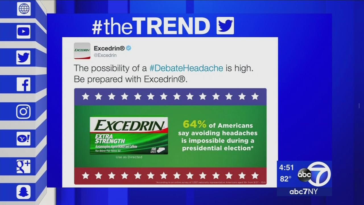 The Trend: Excedrin tweet ahead of debate goes viral