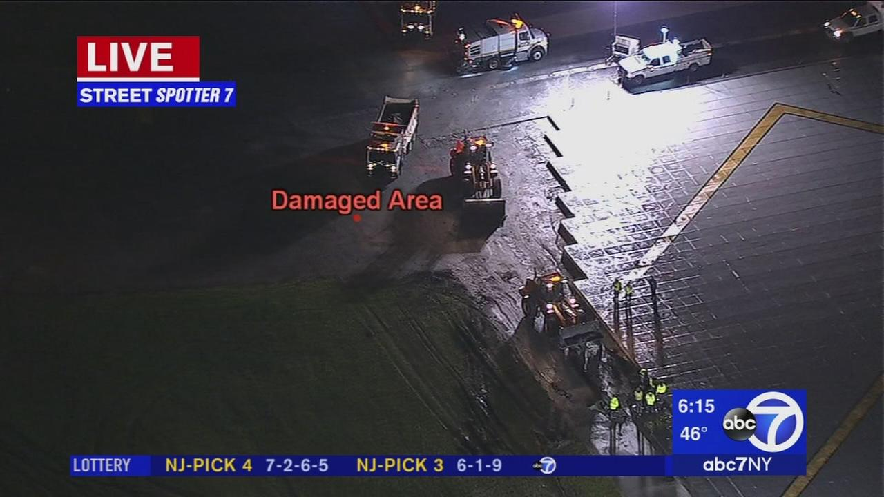 LaGuardia runway damaged