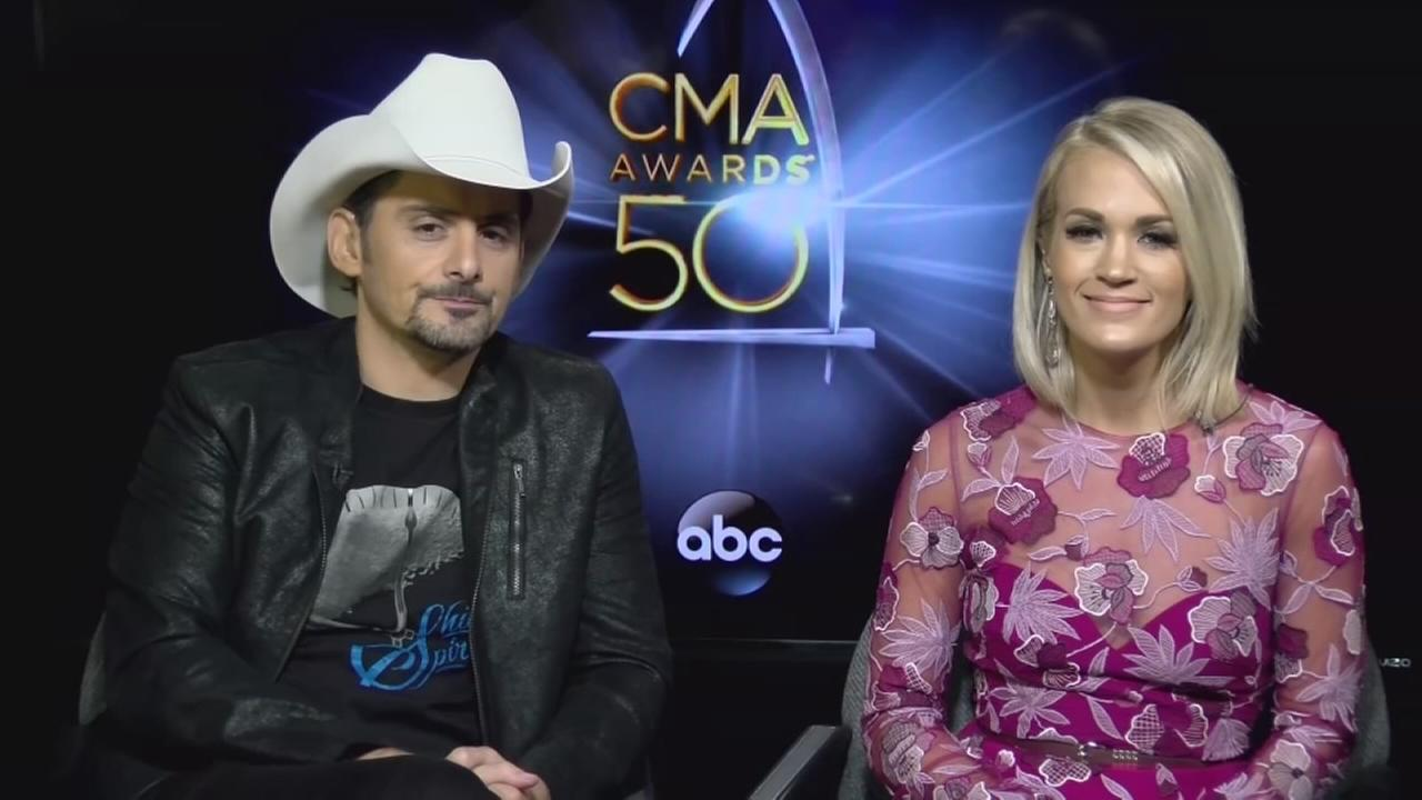 Brad Paisley and Carrie Underwood talk about hosting The 50th Annual CMA Awards