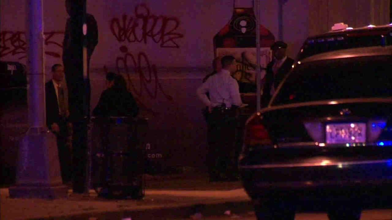 At least two Newark police officers were injured, one stabbed, while breaking up a large fight.