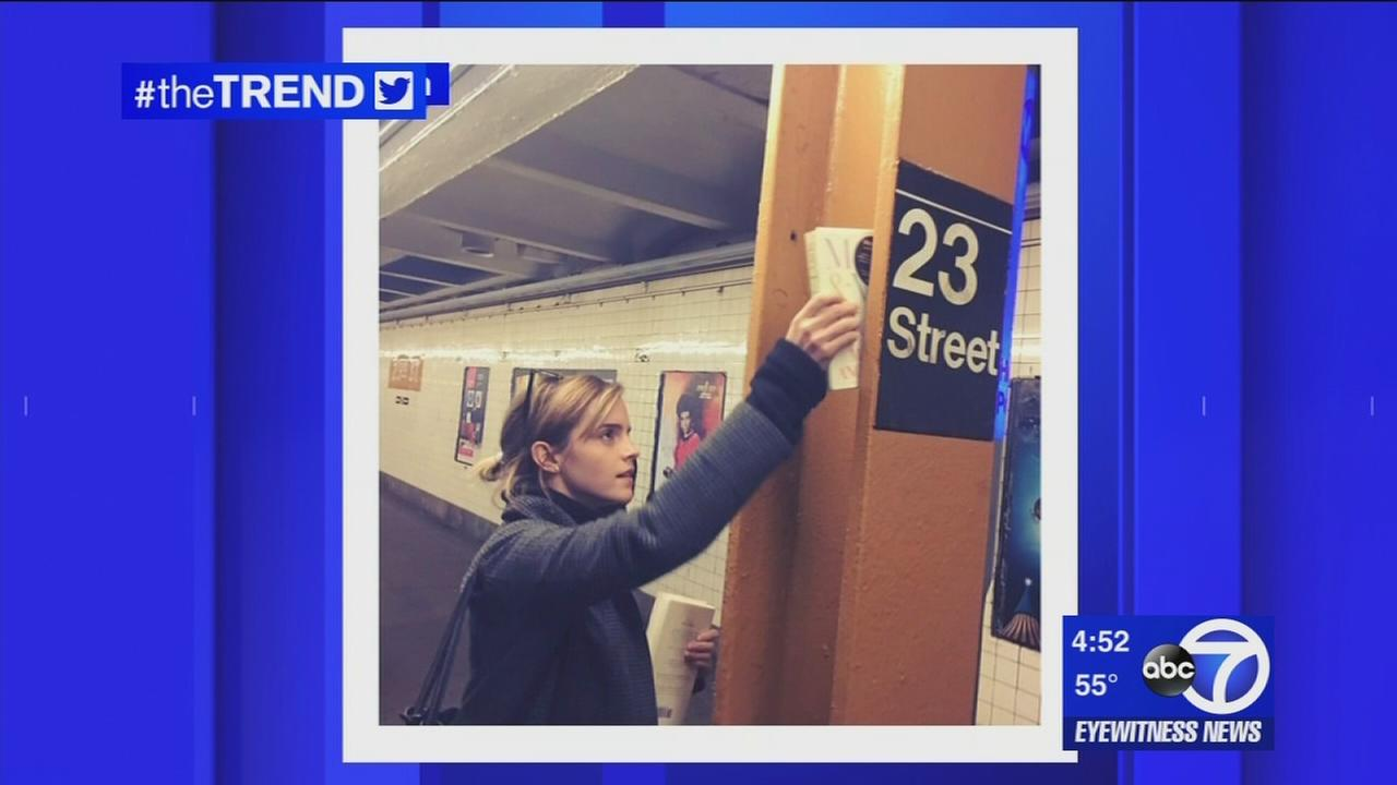 The Trend: Emma Watson hides books throughout NYC subways