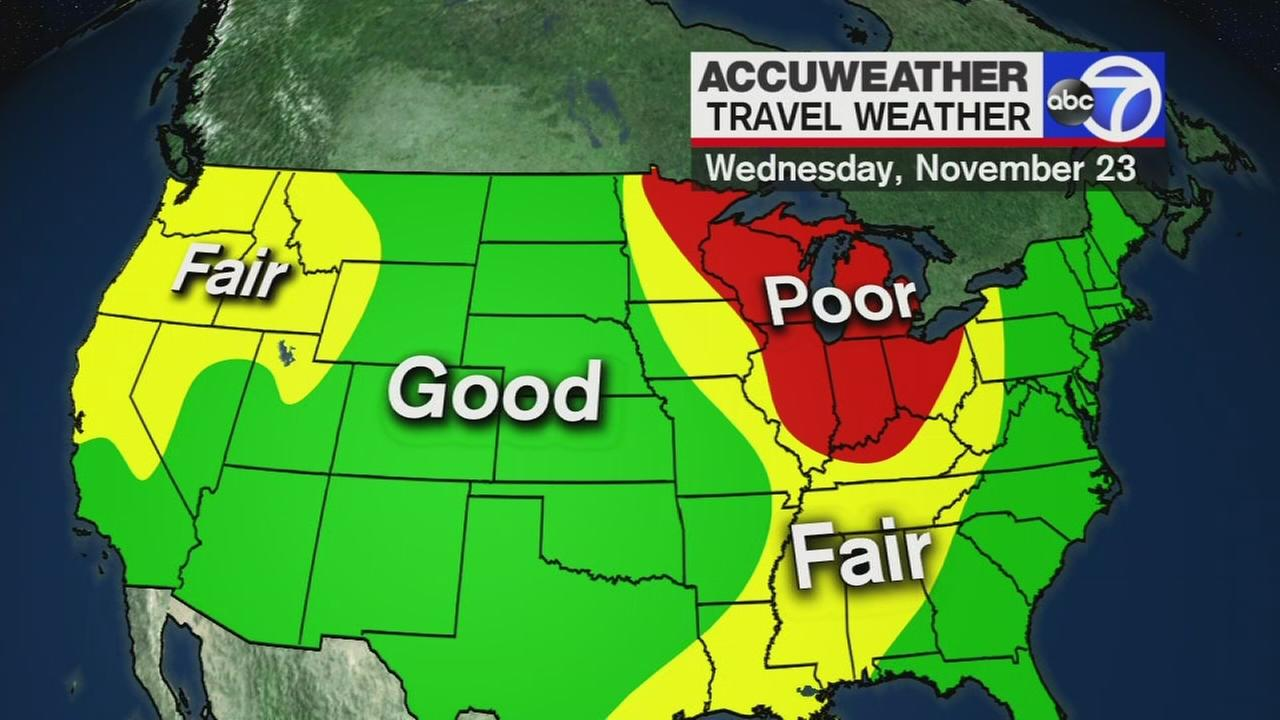 How the weather may impact your travel plans