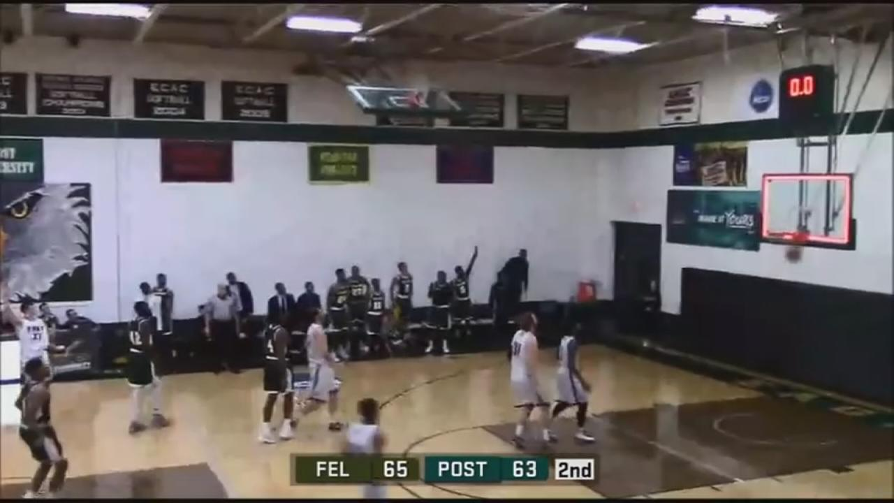 Felician University student hits buzzer-beater shot from half-court