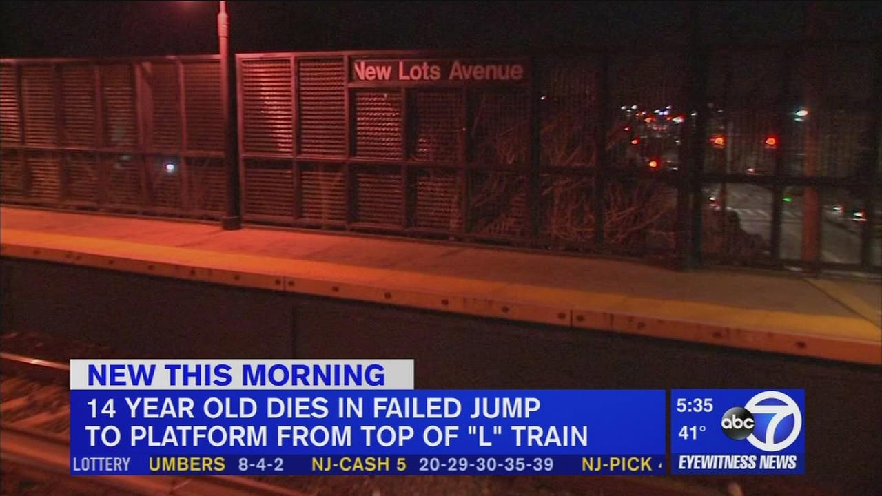 Teen dead in Brooklyn after trying jump from moving subway to platform