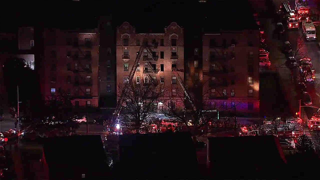 Seven people have been hurt in a Flushing, Queens, apartment fire