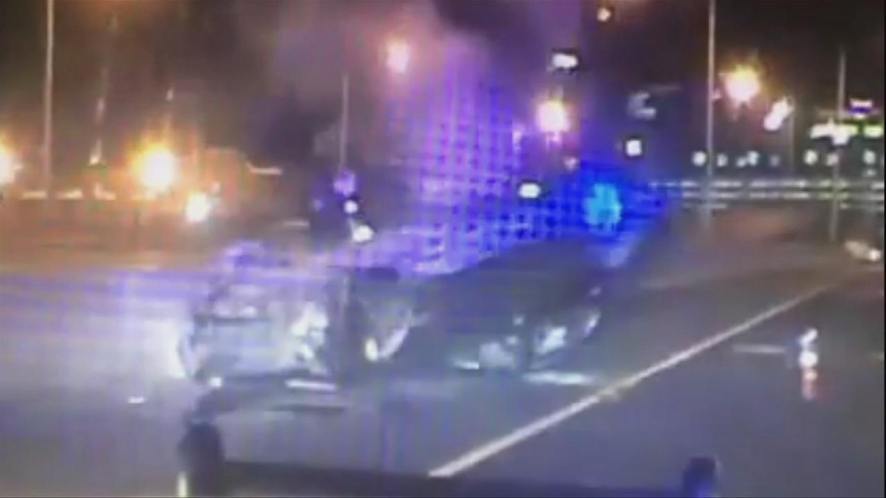 Connecticut state troopers pull unconscious driver from burning car