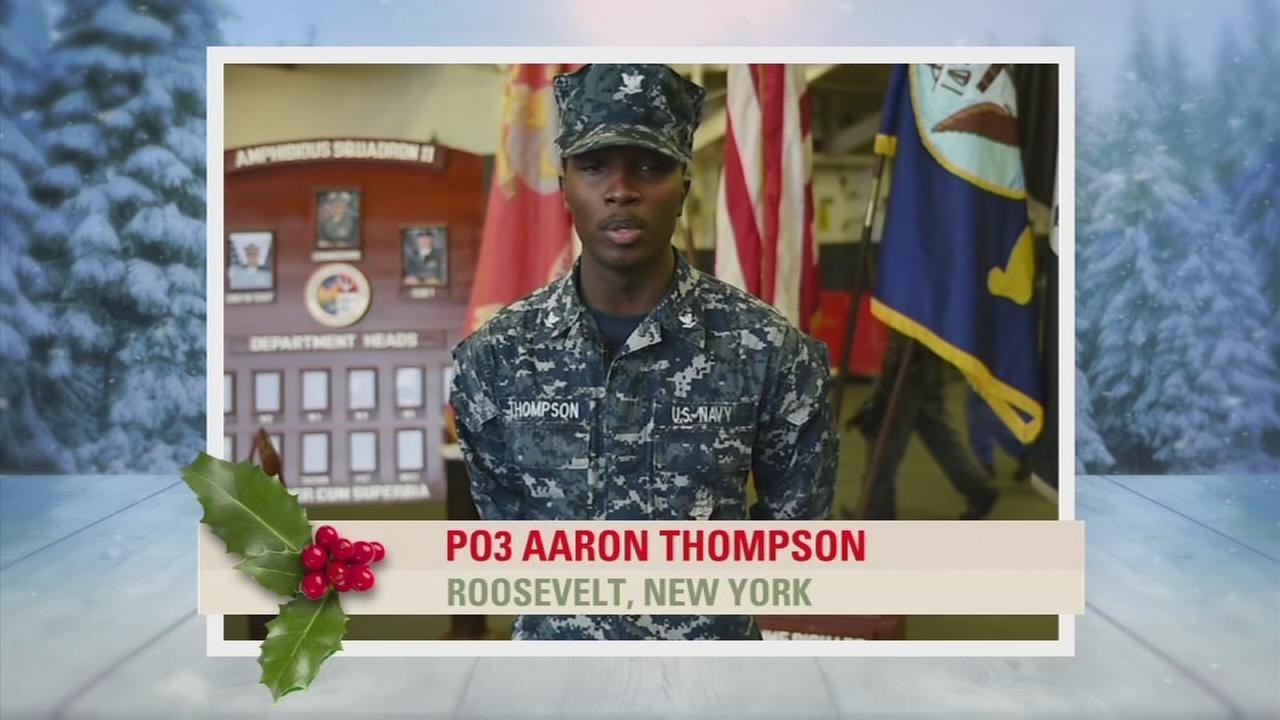 Troop Greetings: PO3 Aaron Thompson
