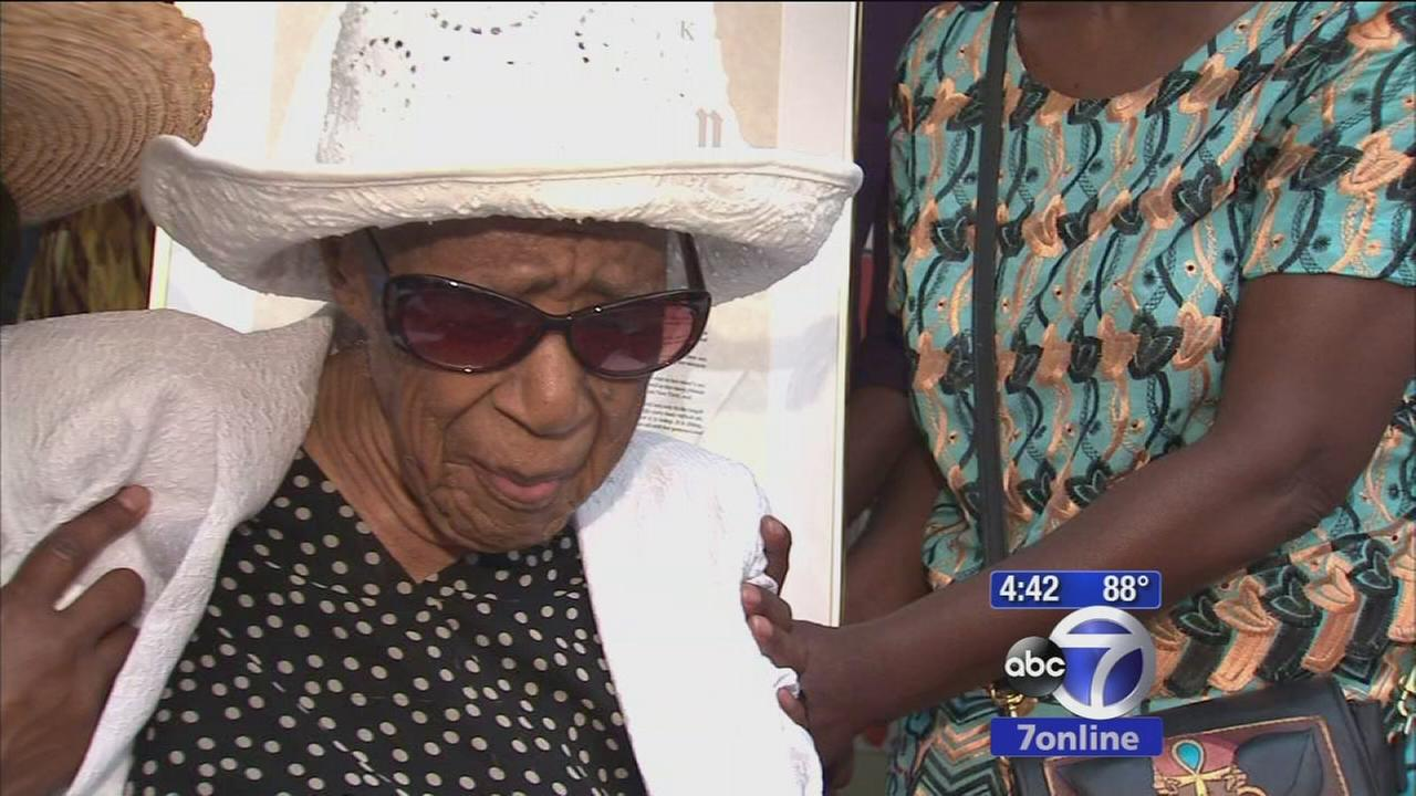 Woman celebrates 115th birthday